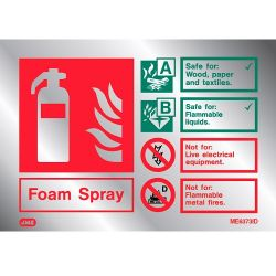 Jalite ME6373ID Metal Effect Foam Extinguisher ID Sign