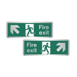Stainless Steel Fire Exit Signs
