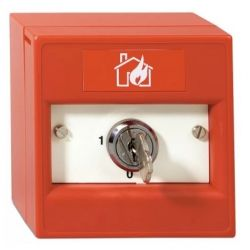 KAC K20DRS-01 Double Pole Keyswitch Call Point - Red