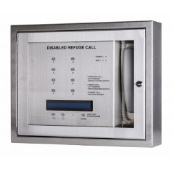 Kentec K41108FST Safe-Point EVCS 8 Line Central Unit With OLED Display & Radial Wiring - Flush Version