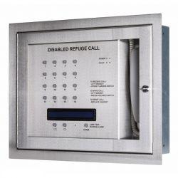 Kentec K41216FST Safe-Point EVCS 16 Line Central Unit With OLED Display & Loop Wiring - Flush Version