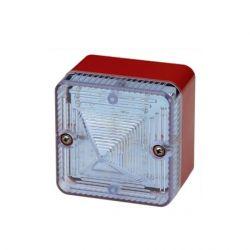 E2S L101XAC230BR/C Xenon Beacon - 230V AC - Red Body Clear Lens