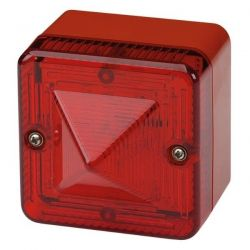 E2S L101XAC230BR/R Xenon Beacon - 230V AC - Red Body Red Lens