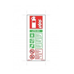 Firechief Lith-Ex Fire Extinguisher ID Sign - White Rigid PVC