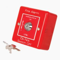 M2 RPE5148 Metal Clad Mains Isolation Keyswitch - Red