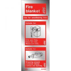 Jalite ME6366MR Aluminium Metal Effect Fire Blanket ID Sign