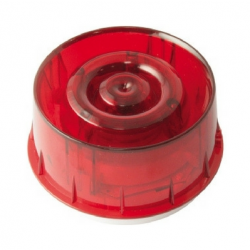 Morley IAS MI-WSS-PR-I Wall Mounted Combined Sounder And Beacon / Strobe With Isolator - Addressable - Red