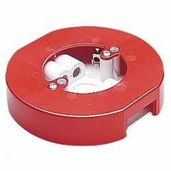 MK YCR502 RED Red Alert Circular Surface Mounted Backbox - Red