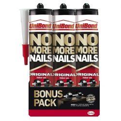 UniBond No More Nails Original Cartridge 365g Triple Pack