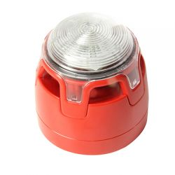 Notifier CWSS-RW-S6 Sounder Beacon EN54-3 & EN54-23 Approved - Red Body Clear Lens - With First Fix Option