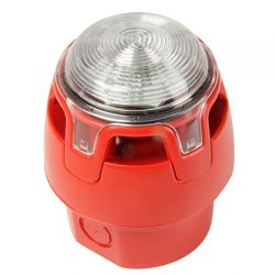Notifier CWSS-RW-W6 Sounder Beacon EN54-3 & EN54-23 Approved - Red Body Clear Lens - Deep Base - First Fix Option