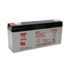 Yuasa NP3-6 Battery - 3Ah 6V Sealed Lead Acid Battery