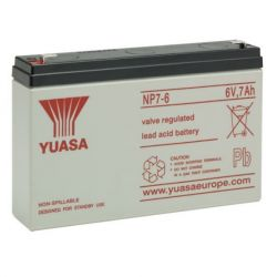 Yuasa NP7-6 Sealed Lead Acid Battery - 7Ah 6V