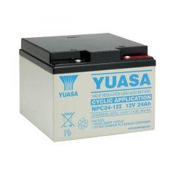 Yuasa Cyclic Battery NPC24-12I - NPC 24Ah 12V Rechargeable