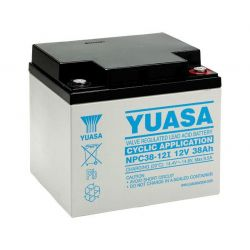 Yuasa Cyclic Battery NPC38-12I - NPC 38Ah 12V Rechargeable