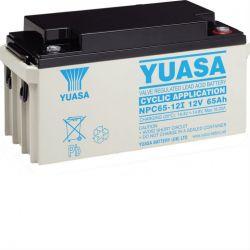 Yuasa Cyclic Battery NPC65-12I - NPC 65Ah 12V Rechargeable
