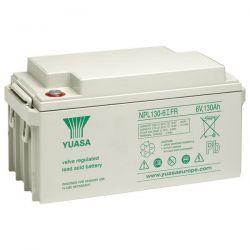 Yuasa NPL130-6 Long Life Lead Acid Battery - 130Ah 6V