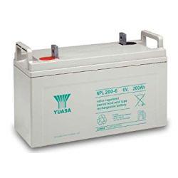 Yuasa NPL200-6 Long Life Lead Acid Battery - 200Ah 6V