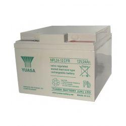Yuasa NPL24-12IFR Long Life Flame Retardant Lead Acid Battery - 24Ah 12V