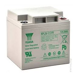 Yuasa NPL38-12IFR Long Life Flame Retardant Lead Acid Battery - 38Ah 12V