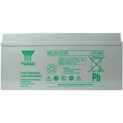 Yuasa NPL78-12IFR Long Life Flame Retardant Lead Acid Battery - 78Ah 12V