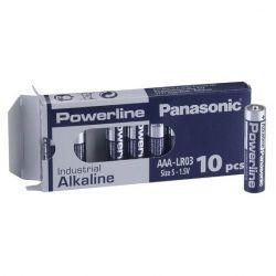 Panasonic Powerline AAA Industrial Alkaline Batteries - Pack of 10 - LR03AD