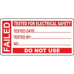 PAT Testing Label - Failed - Roll of 250 - 54028