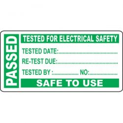 PAT Testing Label - Passed - Roll of 250 - 54045