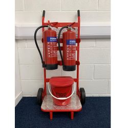 Petrol Station Forecourt Fire Extinguisher & Stand Package