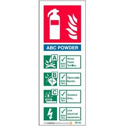 ABC Powder Fire Extinguisher ID Sign - Rigid PVC - 50122R