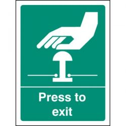 Press To Exit Sign - 2607