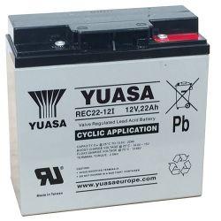 Yuasa REC22-12I Cyclic SLA Battery - 22Ah 12V