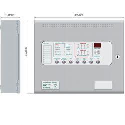 Kentec KA11040M2 Sigma CP-A Alarmsense 4 Zone Fire Alarm Control Panel - Two Wire - Surface Mounted