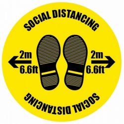 Coronavirus Social Distancing Floor Graphic 400mm Diameter - 58565