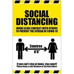 Social Distancing Sign Coronavirus Covid-19 - 18562K