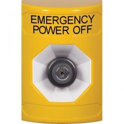 STI Stopper Station Emergency Power Off Key Activated - Yellow - SS2203PO-EN & KIT-77101B-Y