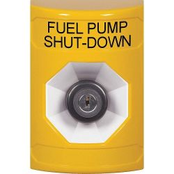 STI Stopper Station Fuel Pump Shut Down Key Activated - Yellow - SS2203PS-EN & KIT-77101B-Y