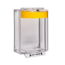 STI-13110NY Universal Stopper - Yellow Shell - No Label - Surface Mounted