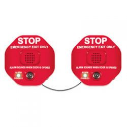 STI-6406 Exit Stopper With Dual Access Control - Red