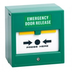 Double Pole Resettable Emergency Door Release Break Glass - Green - STP-CP22