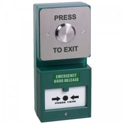 Combined Emergency Door Release Break Glass With Press To Exit Button - STP-DU03/CP22