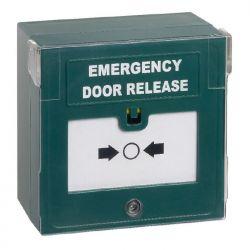 STP Triple Pole Emergency Door Release Break Glass With LED, Sounder & Cover - STP-KGG300SG-LSRC