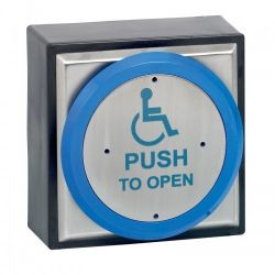 Surface Narrow Stainless Steel Exit Button With Disabled Logo - STP-SPB002ND