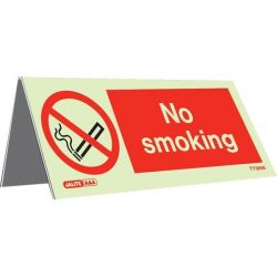 Jalite TT3656 Table Top No Smoking Sign - 40 x 100mm - Pack of 5