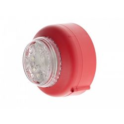 Cranford Controls VXB2-SB-RB/CL Dual LED Beacon - Shallow Base Red Body Clear Lens (512-052)