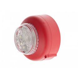 Cranford Controls VXB2-DB-RB/CL Dual LED Beacon - Deep Base Red Body Clear Lens (512-053)