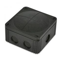 Whiska 607 Junction Box - 40 Amp Junction Box 110 x 110 x 66mm - Black IP66/67