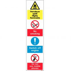 Jalite Petroleum Spirit Highly Flammable Warning Sign For Petrol Stations - WX7397
