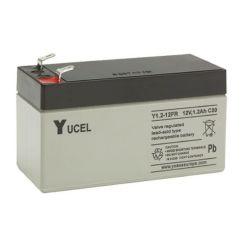 Yuasa Yucel Y1.2-12FR Flame Retardant Battery - 1.2Ah 12V