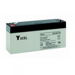 Yuasa Yucel Y3.2-6 Sealed Lead Acid Battery - 3.2Ah 6 Volt